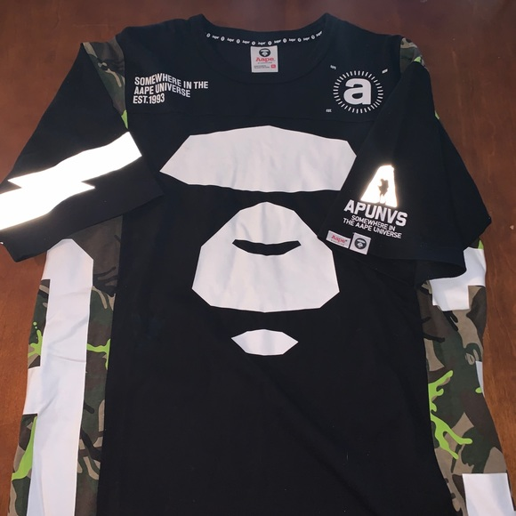 cfee837bc Bape Shirts | Aape A Bathing Ape Shirt Mens Xl Camo 3m | Poshmark